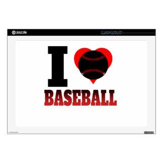 I béisbol del corazón 43,2cm portátil calcomanía