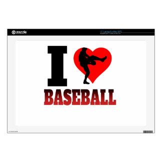 I béisbol del corazón portátil skins