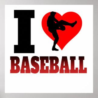 I béisbol del corazón póster