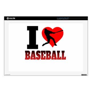 I béisbol del corazón skins para 43,2cm portátiles
