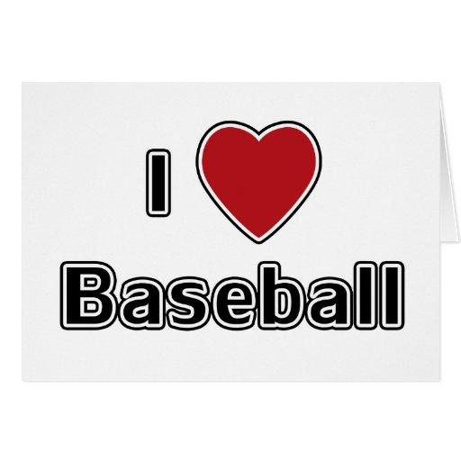 I béisbol del corazón tarjeta de felicitación