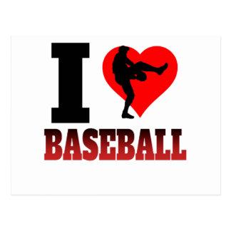 I béisbol del corazón tarjetas postales