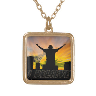 I Believe#2_ Square Pendant Necklace