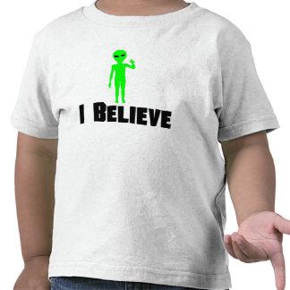 I Believe Alien Tee Shirts