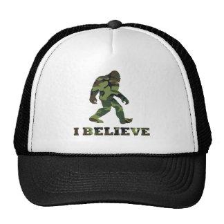 I Believe Bigfoot Camo Trucker Hats