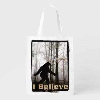 I Believe Bigfoot Lives Grocery Bag