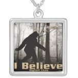 I Believe Bigfoot Lives Personalized Necklace