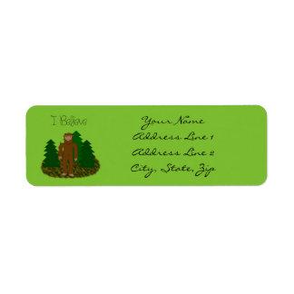 I Believe- Bigfoot - Personalize Label
