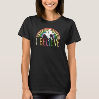 I Believe Bigfoot Riding Unicorn Sasquatch Shirt