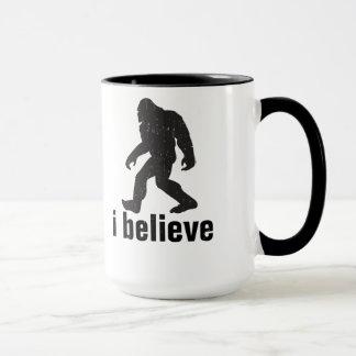 I believe - Black Silhouette Mug