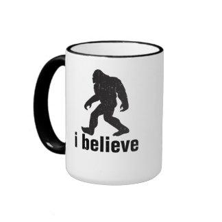 I believe - Black Silhouette Ringer Coffee Mug