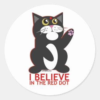 I Believe Cat Classic Round Sticker