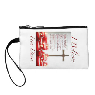 I BELIEVE CHRISTIAN POEM ON A Key Coin Clutch