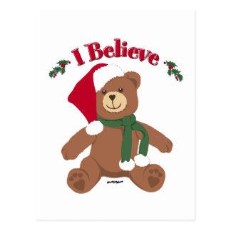 I Believe! Christmas Teddy Bear Postcard