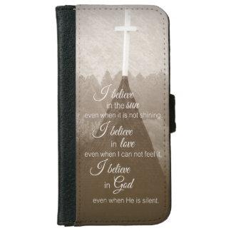 I Believe Cross iPhone 6 Wallet Case