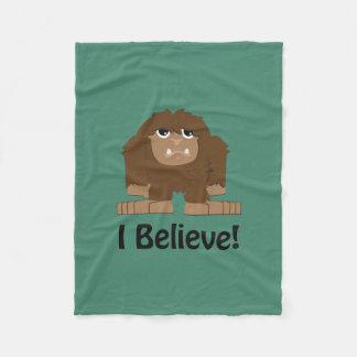 I Believe! Cute bigfoot Fleece Blanket