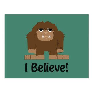 I Believe! Cute bigfoot Postcard