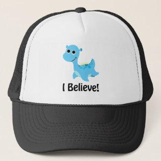 I Believe! Cute Blue Nessie Trucker Hat