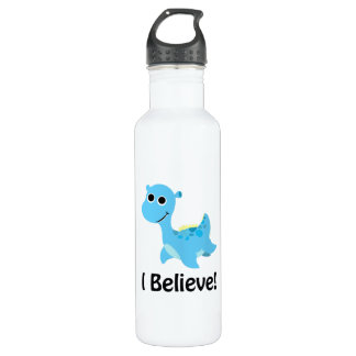 I Believe! Cute Blue Nessie Water Bottle
