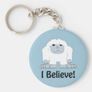 I Believe! Cute Yeti Basic Round Button Keychain