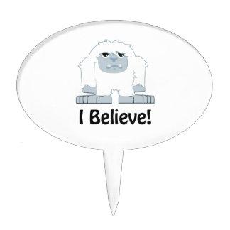 I Believe! Cute Yeti Cake Topper