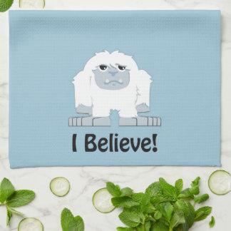 I Believe! Cute Yeti Kitchen Towel