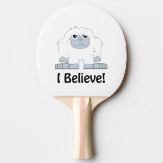 I Believe! Cute Yeti Ping Pong Paddle