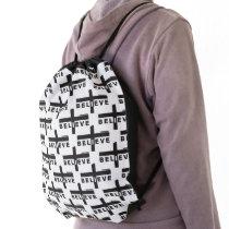I Believe Drawstring Bag