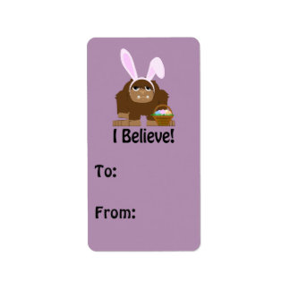 I Believe! Easter Bigfoot Label