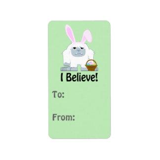 I Believe! Easter Yeti Label