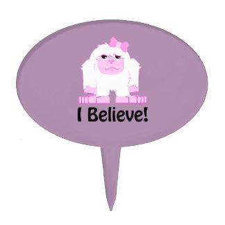 I Believe! Girl Yeti Cake Topper
