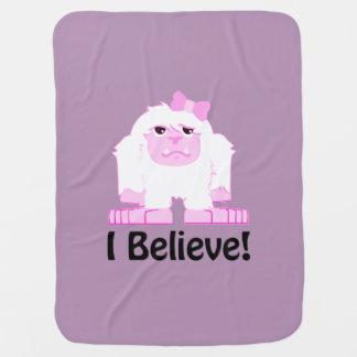 I Believe! Girl Yeti Receiving Blanket