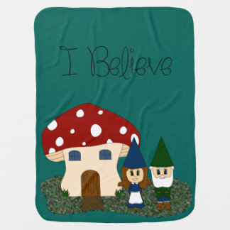 I Believe - Gnomes - change color Receiving Blanket