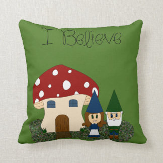 I Believe - Gnomes - Change Color Throw Pillow