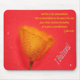 I Believe God - Love One Another - mousepad