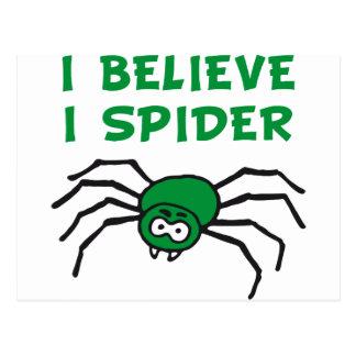 I believe I to spider - i believe i SPI that Postcard