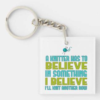 I Believe I'll Knit Keychain