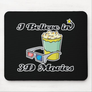 i believe in 3D movies Mouse Pad