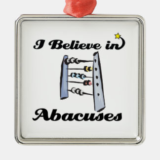 i believe in abacuses christmas tree ornaments