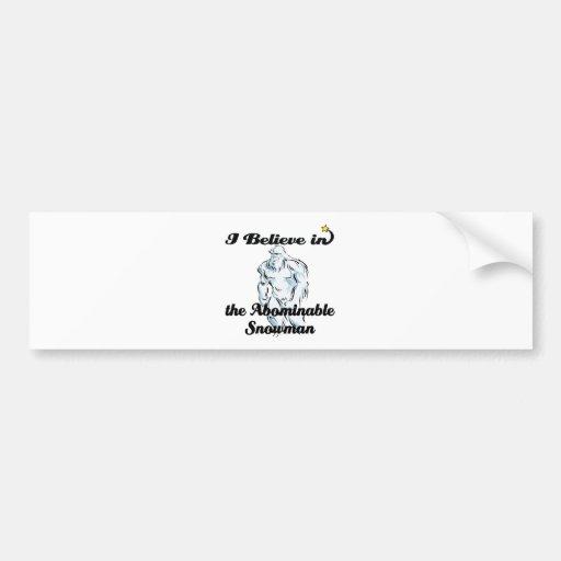 i believe in abominable snowman bumper sticker