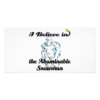 i believe in abominable snowman photo card