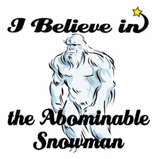 i believe in abominable snowman standing photo sculpture
