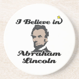 i believe in abraham lincoln beverage coasters