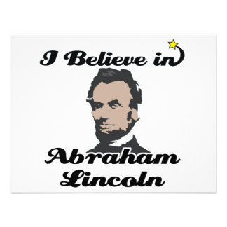 i believe in abraham lincoln personalized invites