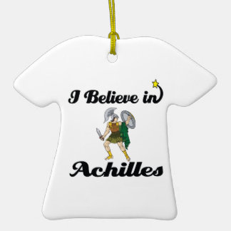 i believe in achilles christmas ornament