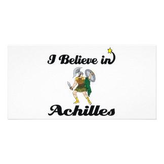 i believe in achilles customized photo card