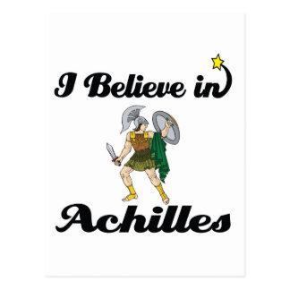 i believe in achilles postcard