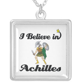 i believe in achilles square pendant necklace