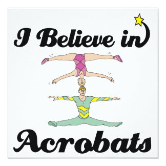 i believe in acrobats personalized invite