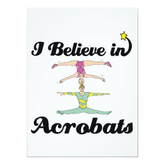 i believe in acrobats 6.5x8.75 paper invitation card
